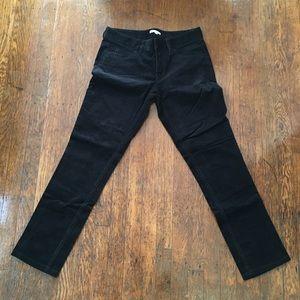 Vince Black Corduroy Pant. Size 4.